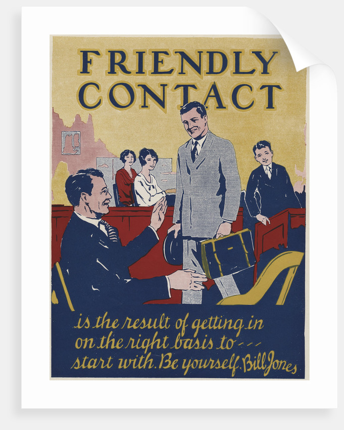 Friendly Contact Motivational Poster by Corbis