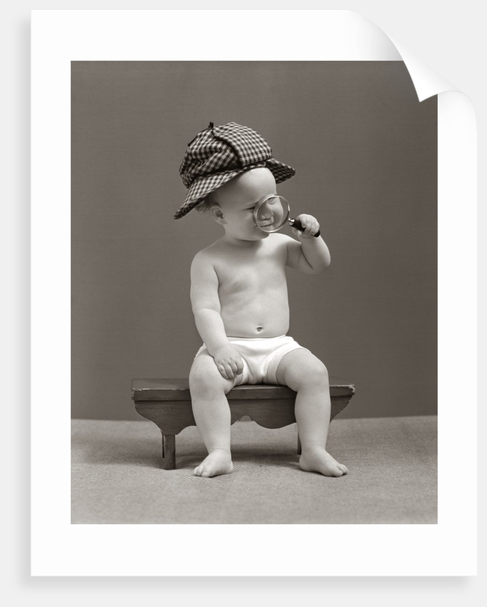1940s Baby Sherlock Holmes In Diaper posters   prints by Corbis 8860e24d483