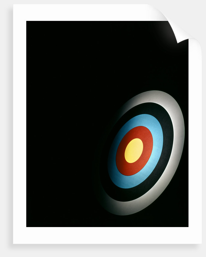Target Archery Bullseye Dartboard Retro by Corbis