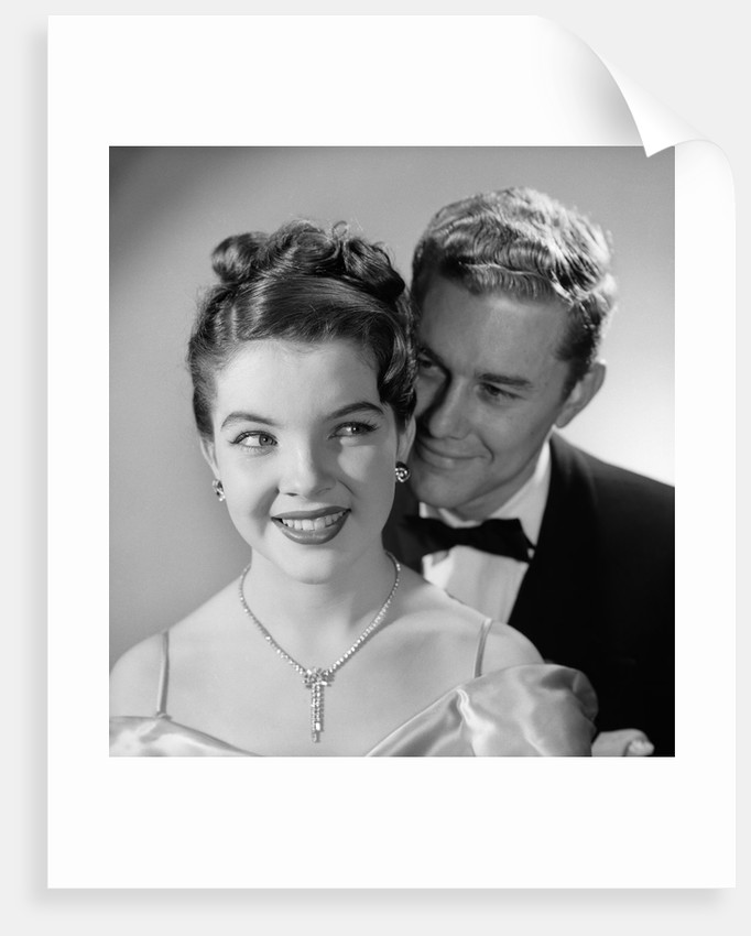 1950s 1960s Happy Couple Wearing Formal Evening Attire by Corbis