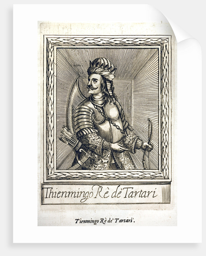 Portrait of King Thienmingo of Tartary by Corbis