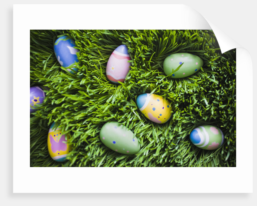 Easter Eggs on Grass by Corbis