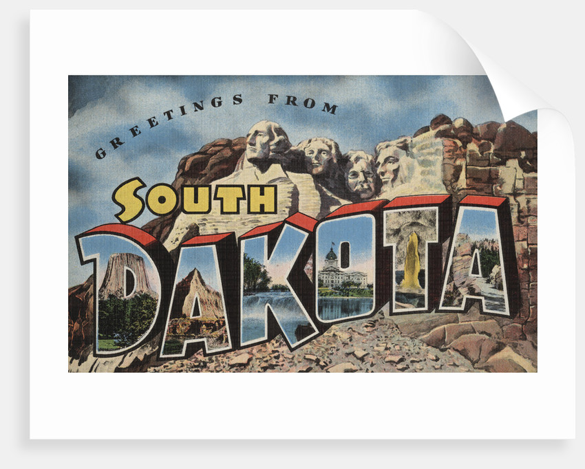 Greetings from South Dakota Postcard by Corbis