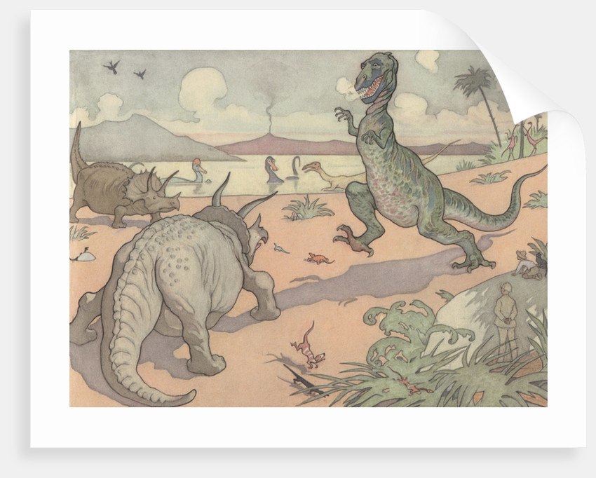 Illustration of Animals of the Cretaceous Period by E. Boyd Smith