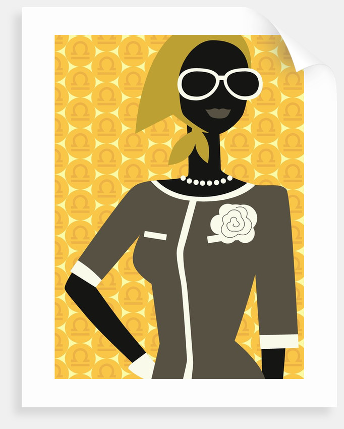 Woman Wearing Scarf and Sunglasses by Corbis
