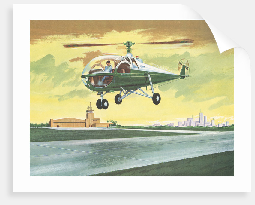 Illustration of Helicopter by Corbis