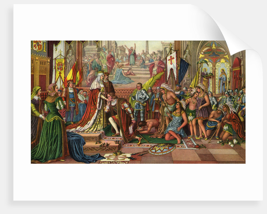 Illustration of Columbus' Reception at Barcelona by Corbis