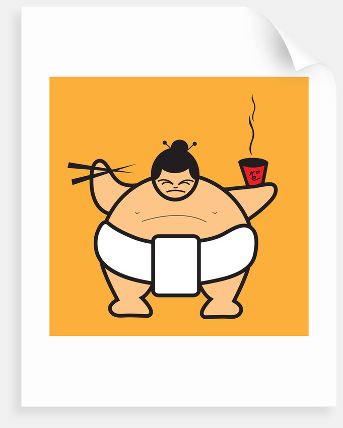 Sumo Eating Bowl Of Noodles Posters Amp Prints By Corbis