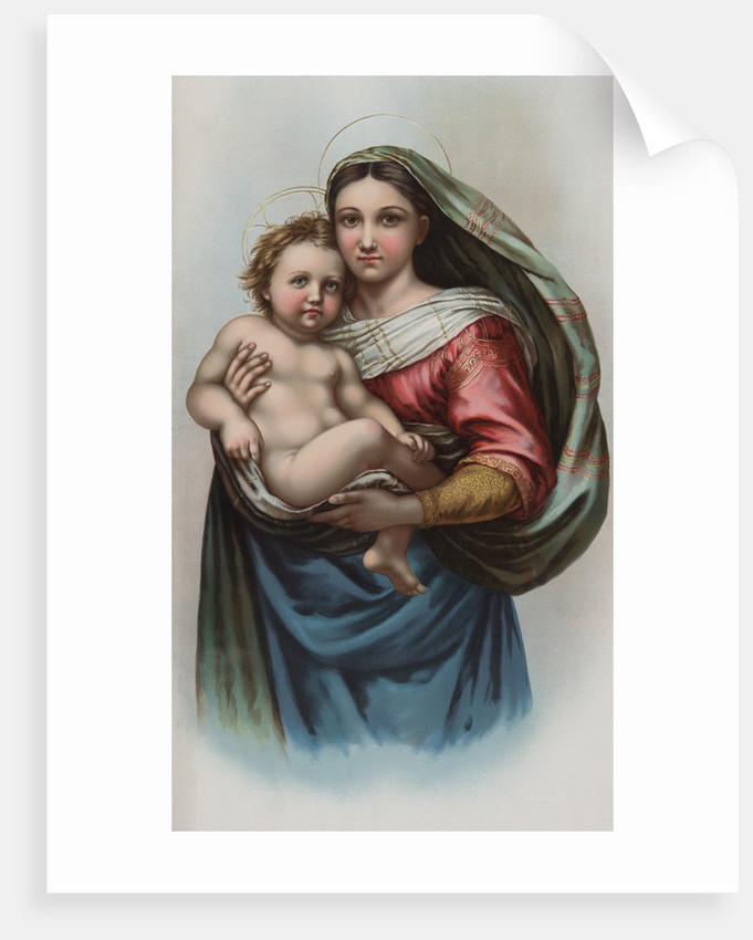 Lithograph of Raphael's Sistine Madonna by Corbis