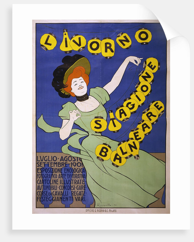 Livorno Stagione Balneare poster by Leonetto Cappiello