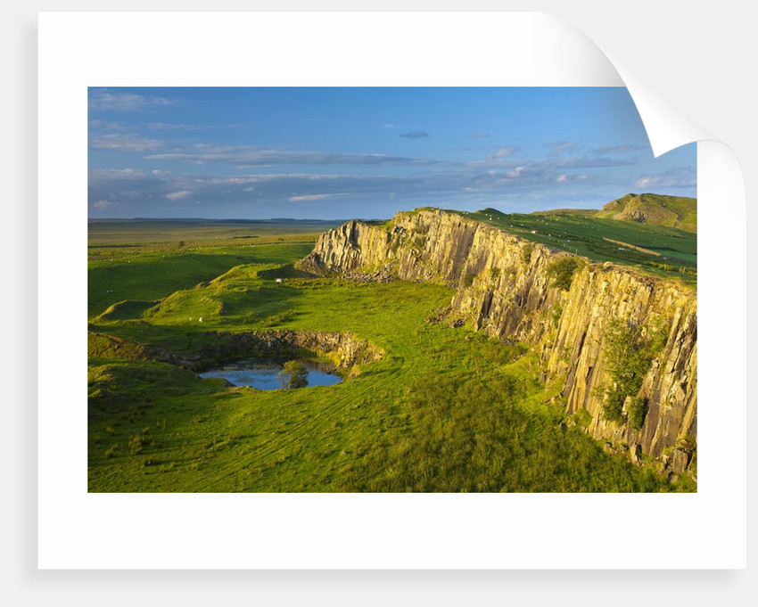 Walltown Crags and the route of Hadrian's Wall along the Great Whin Sill by Corbis