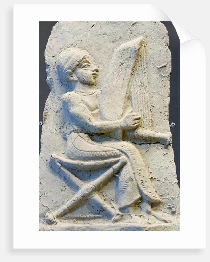 Terracotta relief of harpist by Corbis