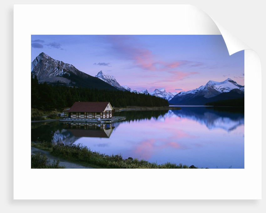 Maligne Lake at Dusk, Jasper National Park, Alberta, Canada by Corbis
