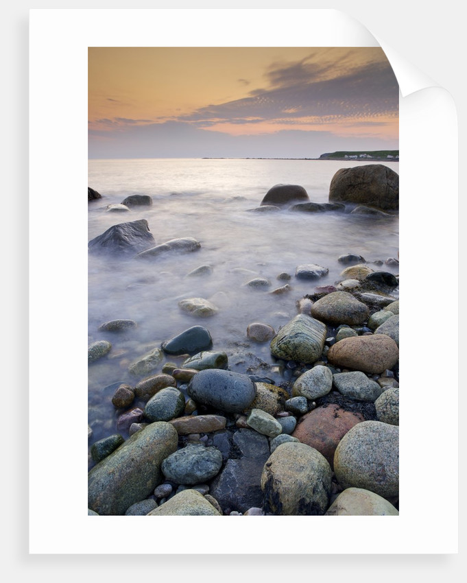 The Rocky Shoreline of Green Point at Sunset, Gros Morne National Park, UNESCO World Heritage Site, Viking Trail, Great Northern Peninsula, Newfoundland & Labrador, Canada. by Corbis