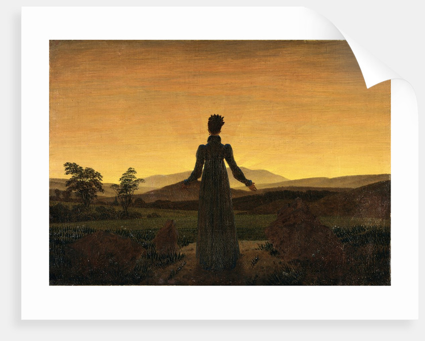 A Woman At Sunset Or Sunrise Posters Amp Prints By Caspar