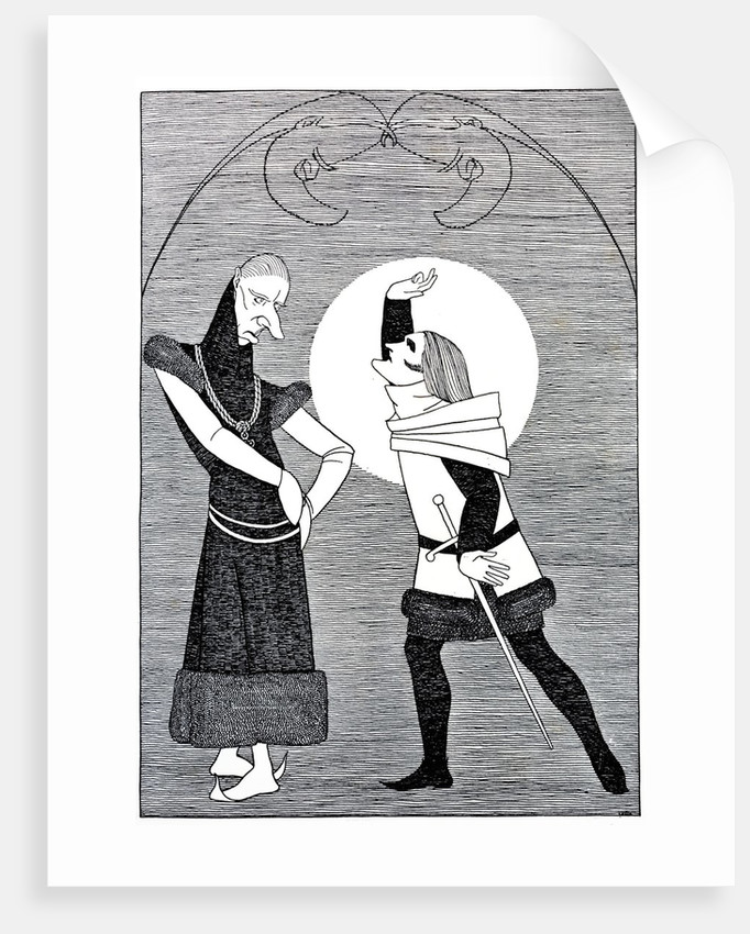 Caricature of Sybil Thorndike and Ernest Thesiger performing by Corbis