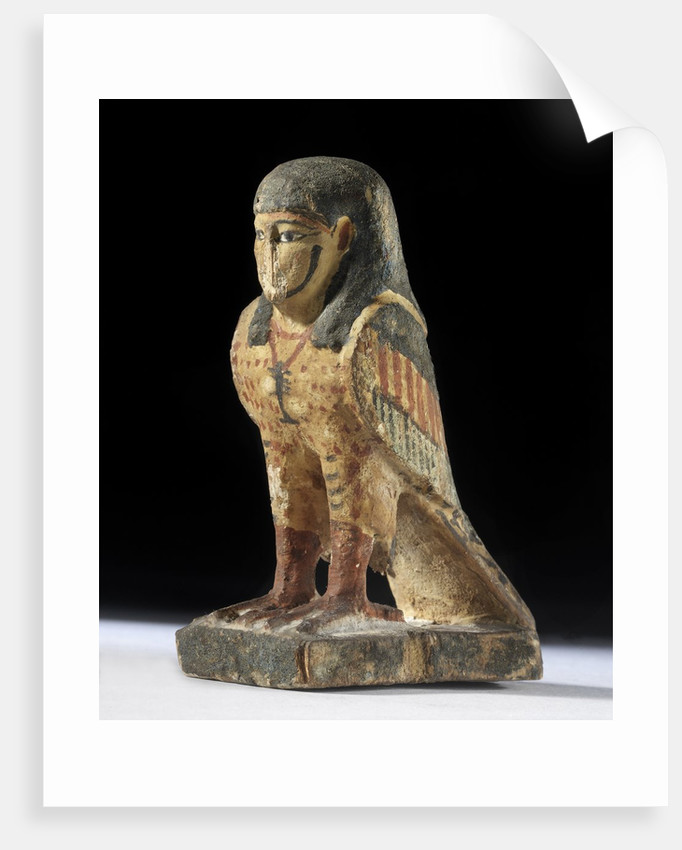 Egyptian amulet with human-headed bird by Corbis