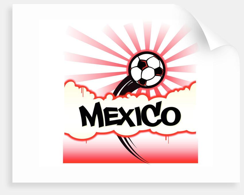 Soccer Burst Mexico by Corbis