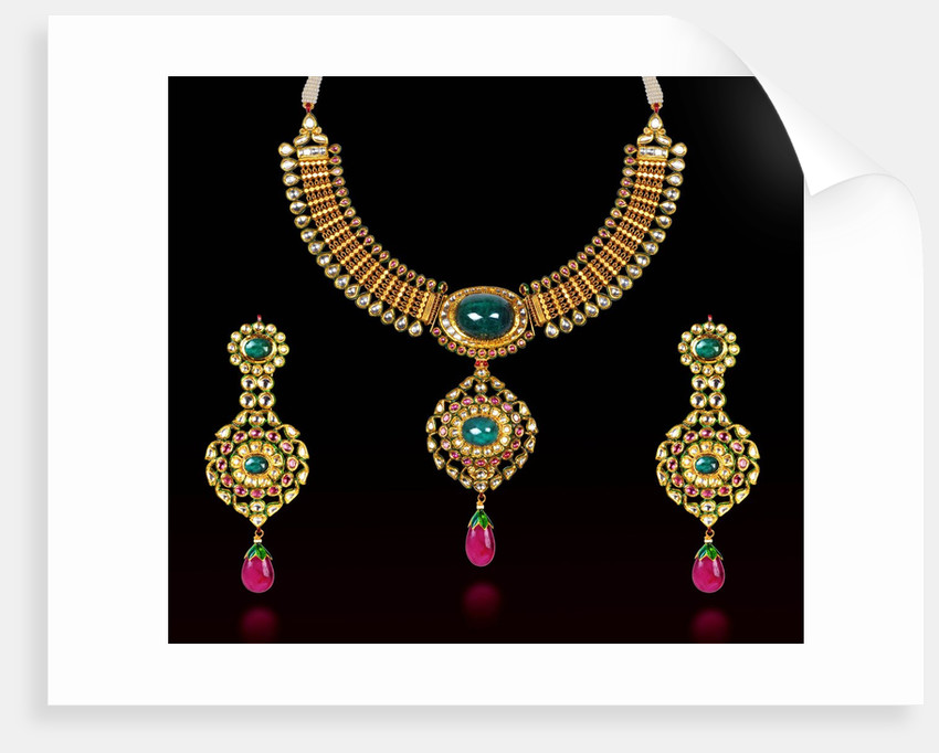 Indian necklace and earring set by Corbis