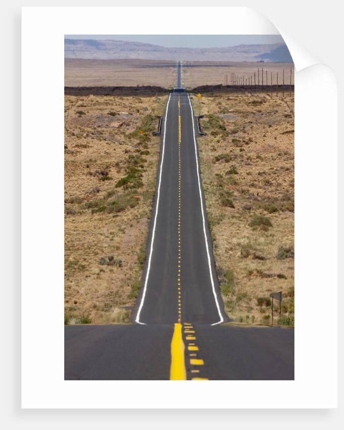 Highway in Arizona desert by Corbis
