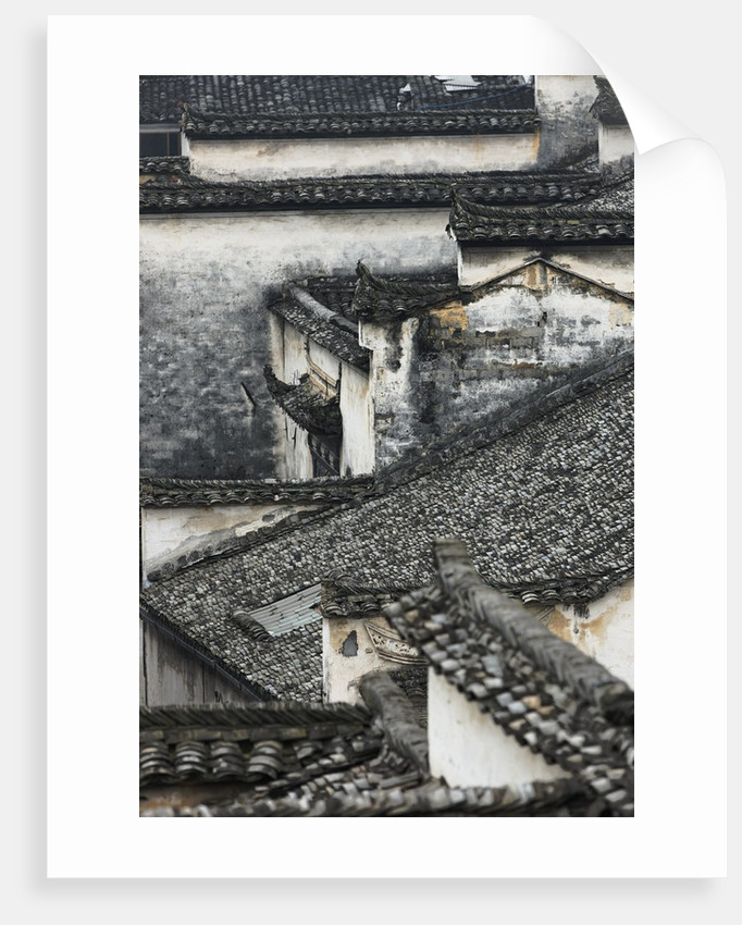 Tiled roof in Xidi, China by Corbis