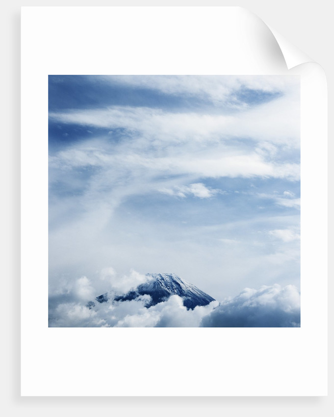 Clouds above Mount Fuji by Corbis