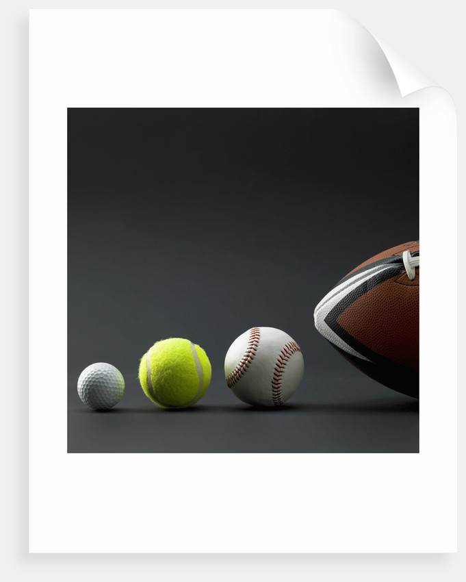 Various sport balls by Corbis