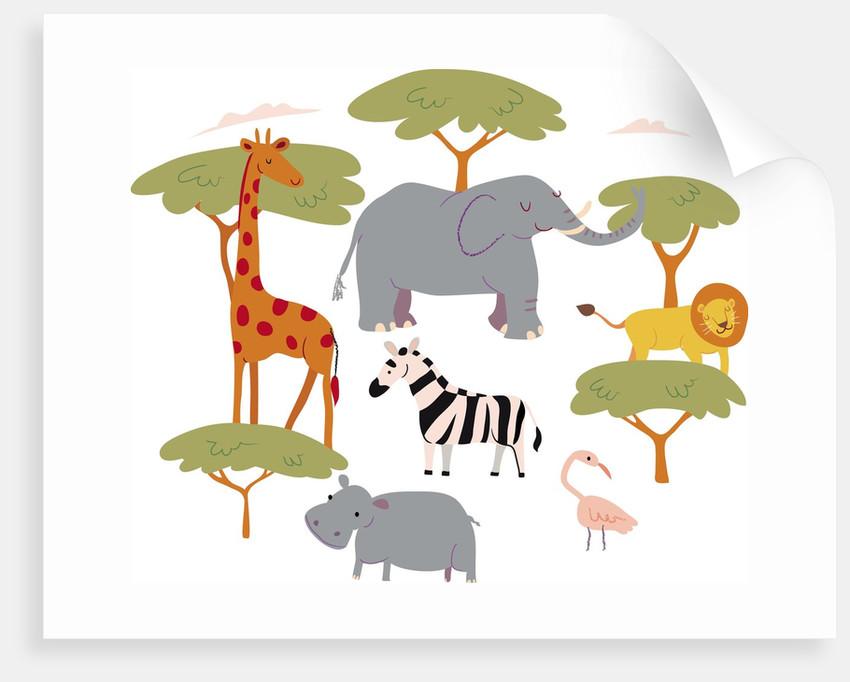 Animals in the safari by Corbis
