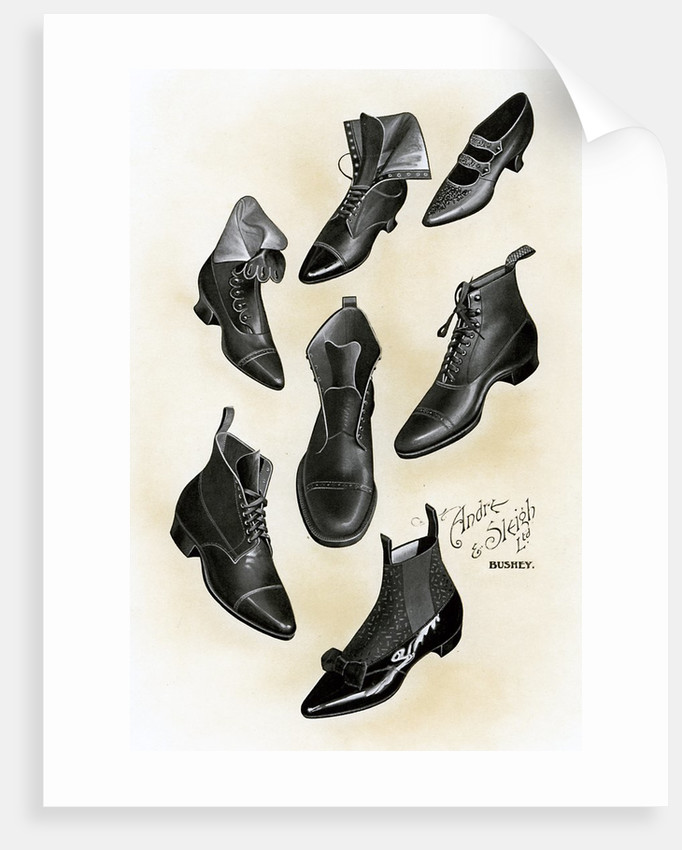 f2db79d5fe5e Variety of shoes and boots posters & prints by Corbis