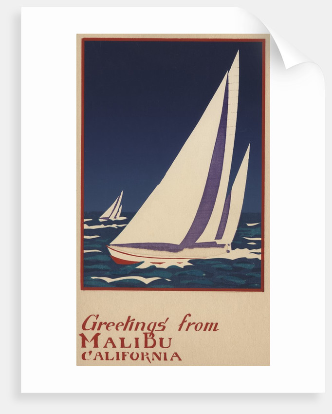 Greetings from Malibu, California Postcard by Corbis