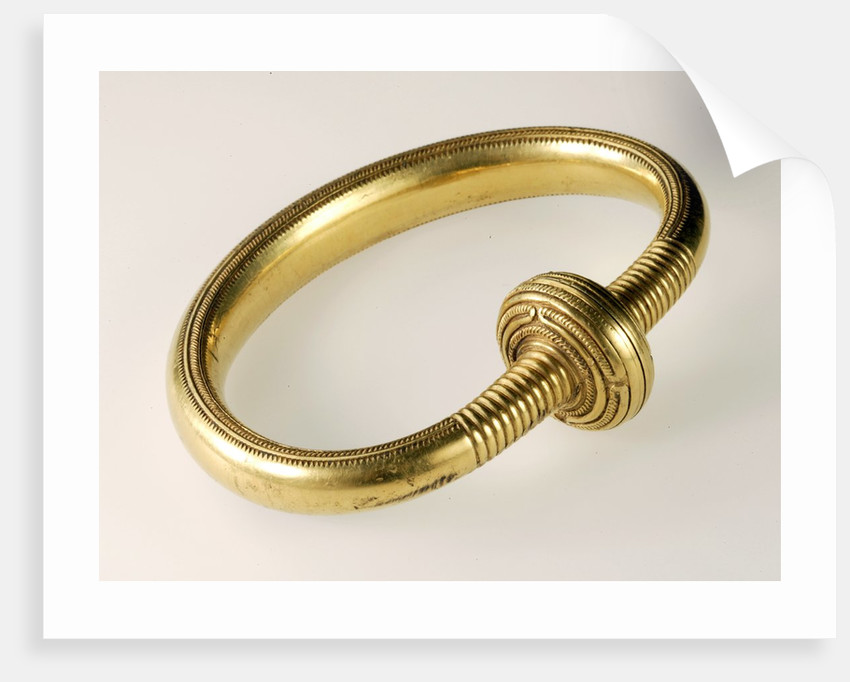 Gold bracelet from the Late Bronze Age by Corbis