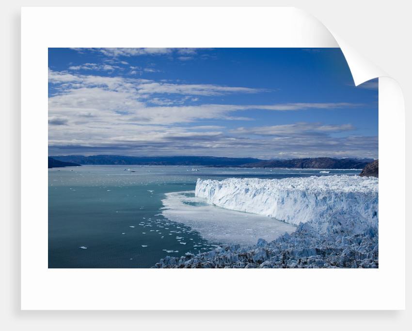 Eqip Glacier along Disko Bay in Greenland by Corbis