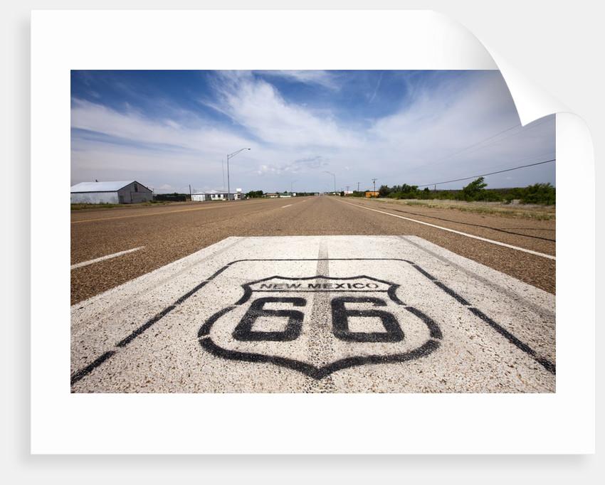 Route 66 at Tucumcari in New Mexico by Corbis