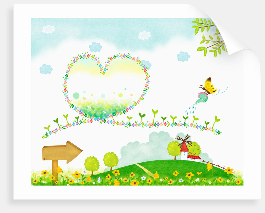Sunny spring scenery by Corbis