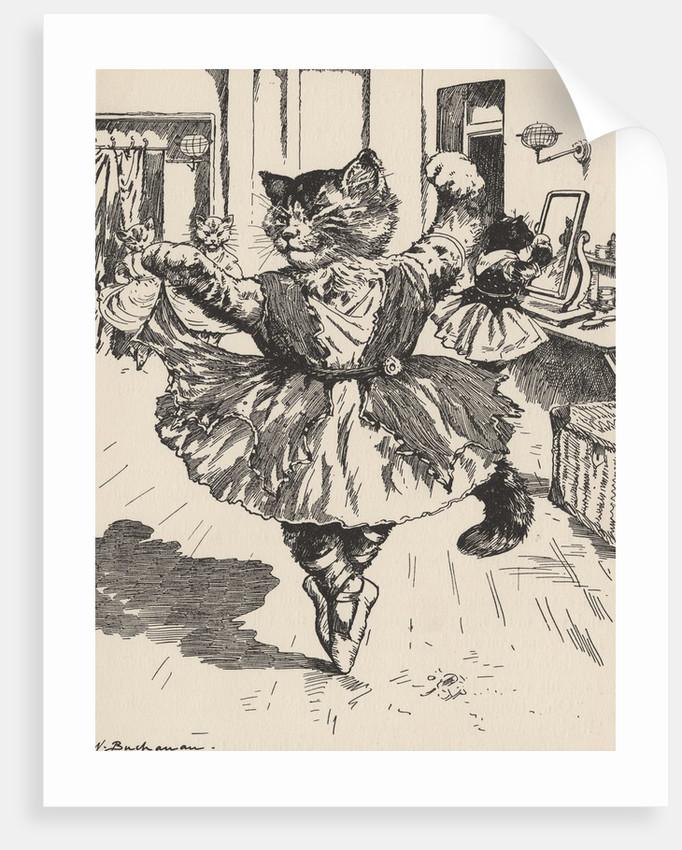 Feline ballerina by Corbis