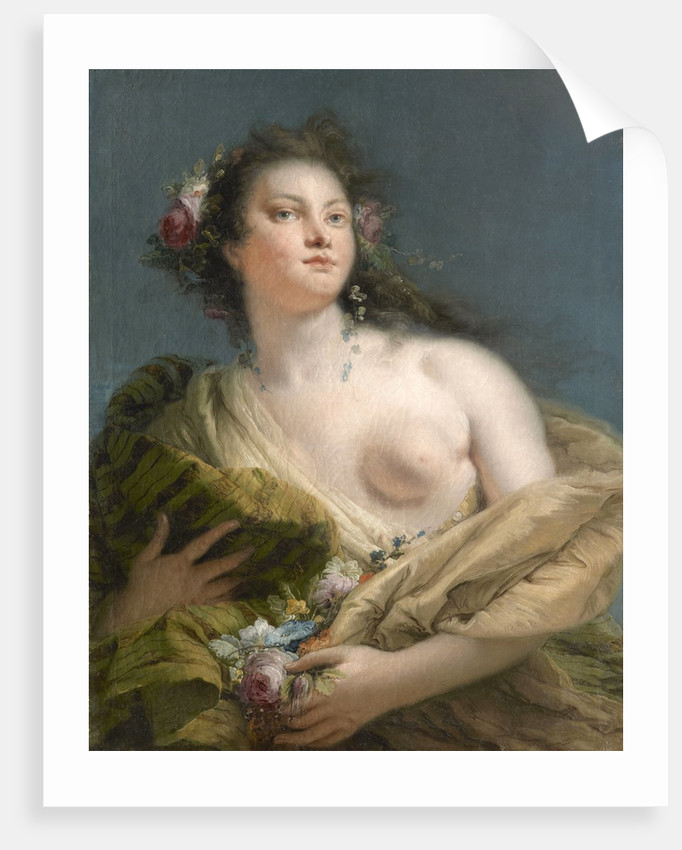 Portrait of a Lady as Flora by Giovanni Battista Tiepolo