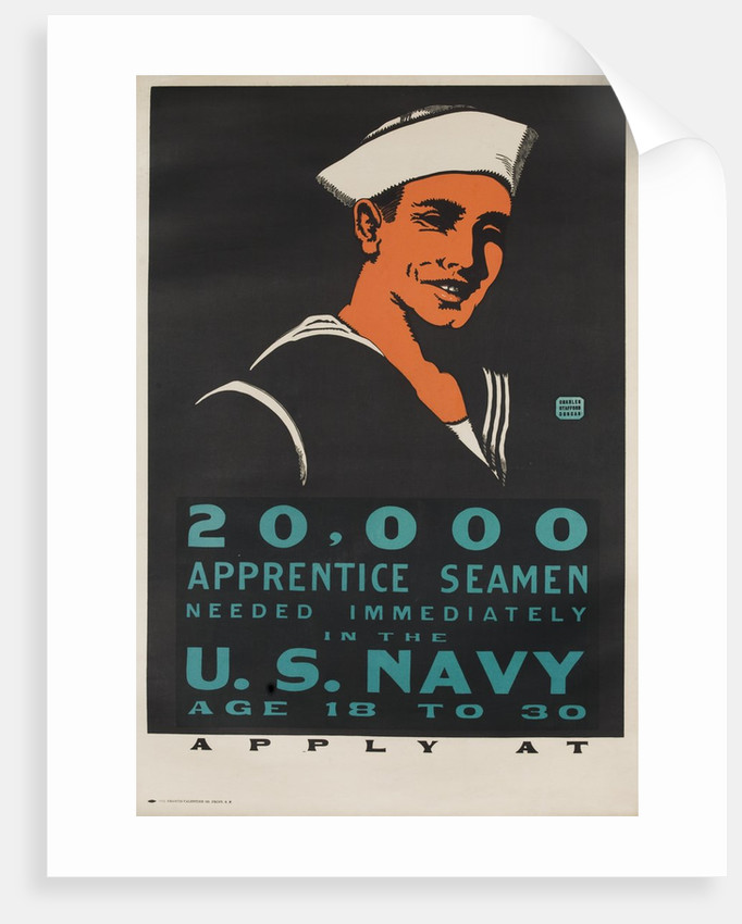 20,000 Apprentice Seamen Needed Immediately poster by Corbis