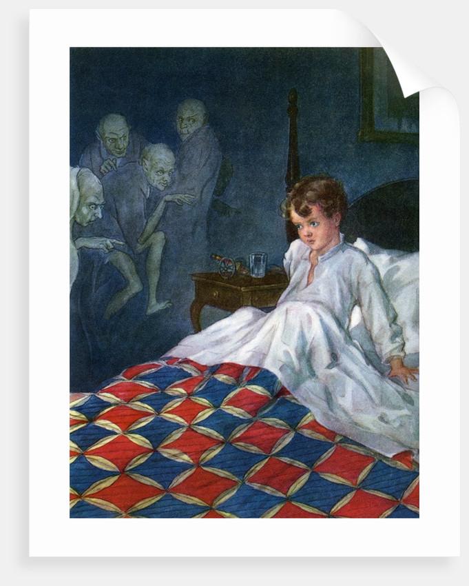 Boy awakened by nightmare