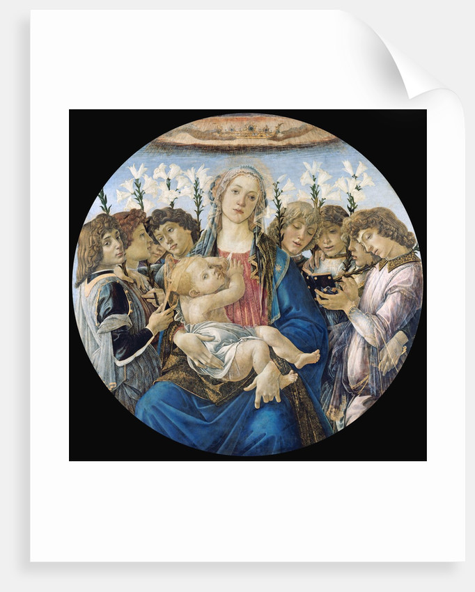 Virgin and Child with Eight Angels by Sandro Botticelli
