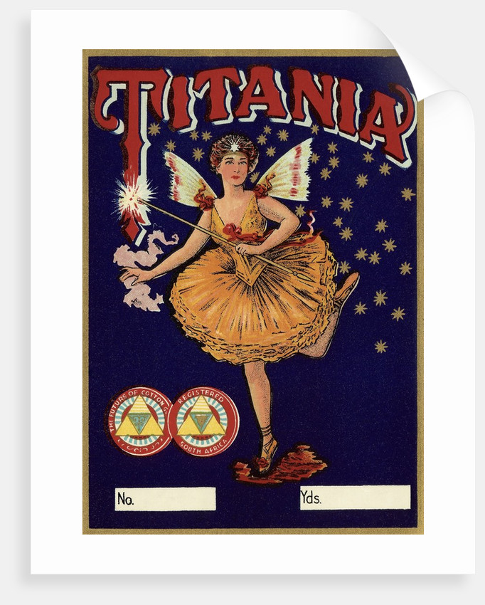 Czech English cotton label with Titania by Corbis
