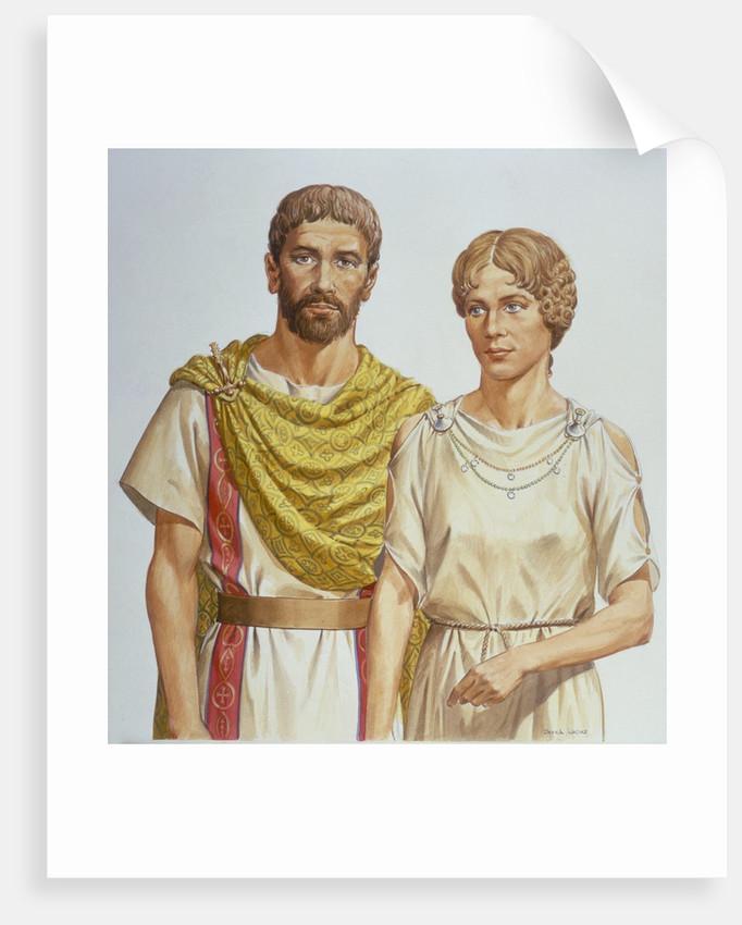 Roman man and woman by Corbis