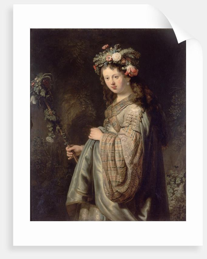Flora by Rembrandt van Rijn