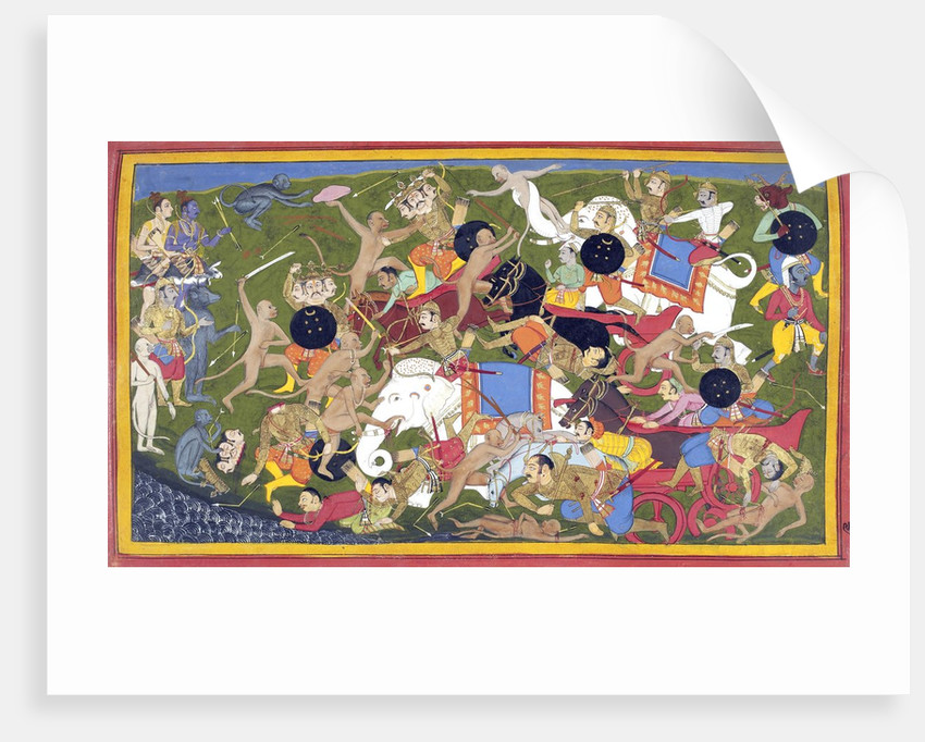 Battle Between the Armies of Rama and the King of Lanka by Corbis