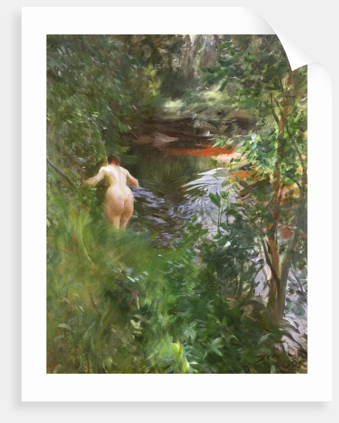 In Gopsmor (Nude by a Stream) by Anders Zorn