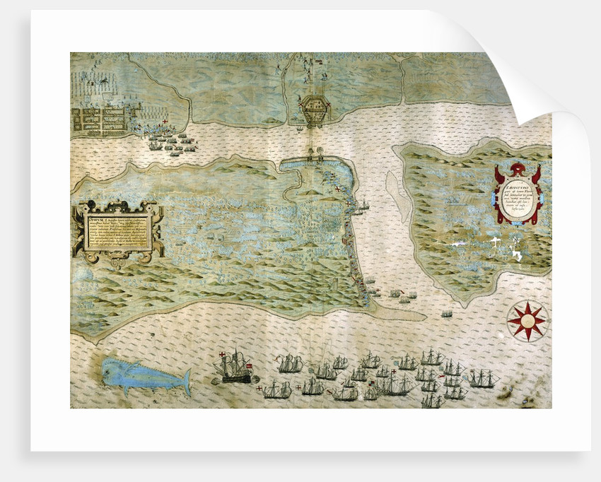 Sir Francis Drake's attack on Saint Augustine, Florida on May 28-29, 1586 by Corbis