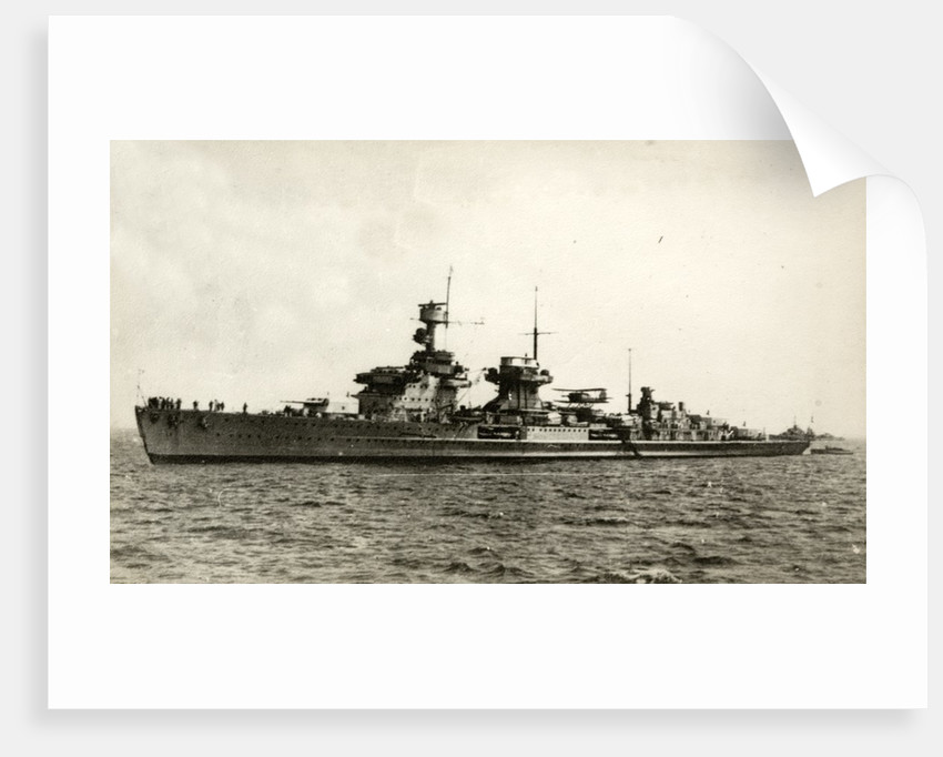 German light cruiser Nürnberg (Nuremberg in English) by Corbis