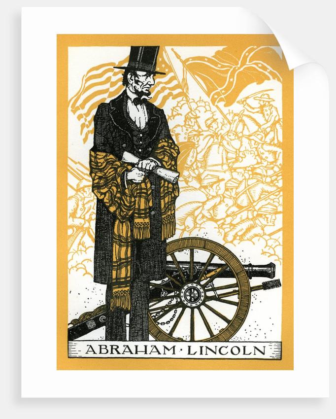 Abraham Lincoln and Civil War scene by Corbis