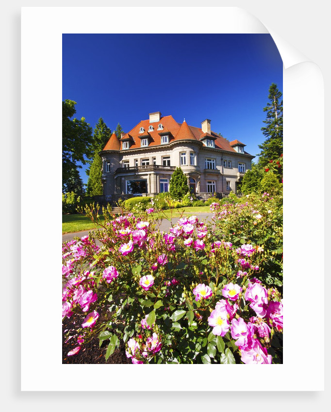 summer Pittock Mansion, Portland Oregon. Pacific Northwest. by Corbis
