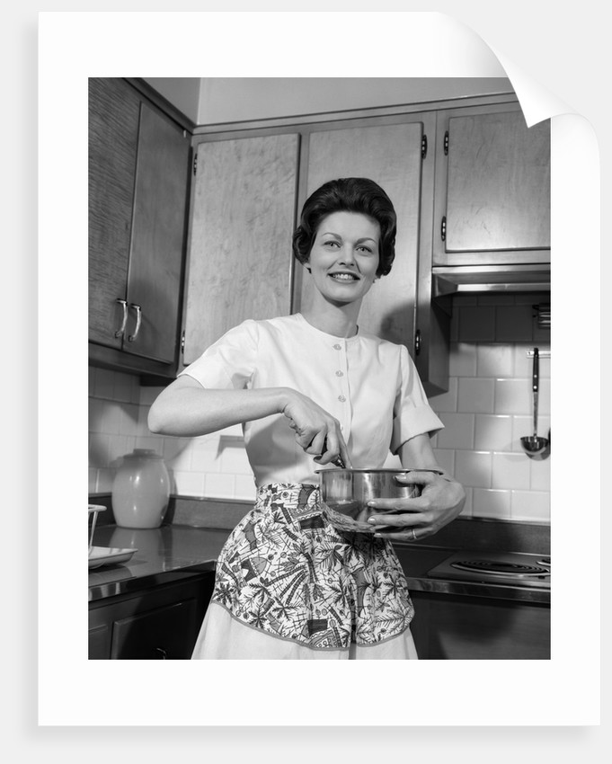 1960s woman kitchen housewife stir by corbis