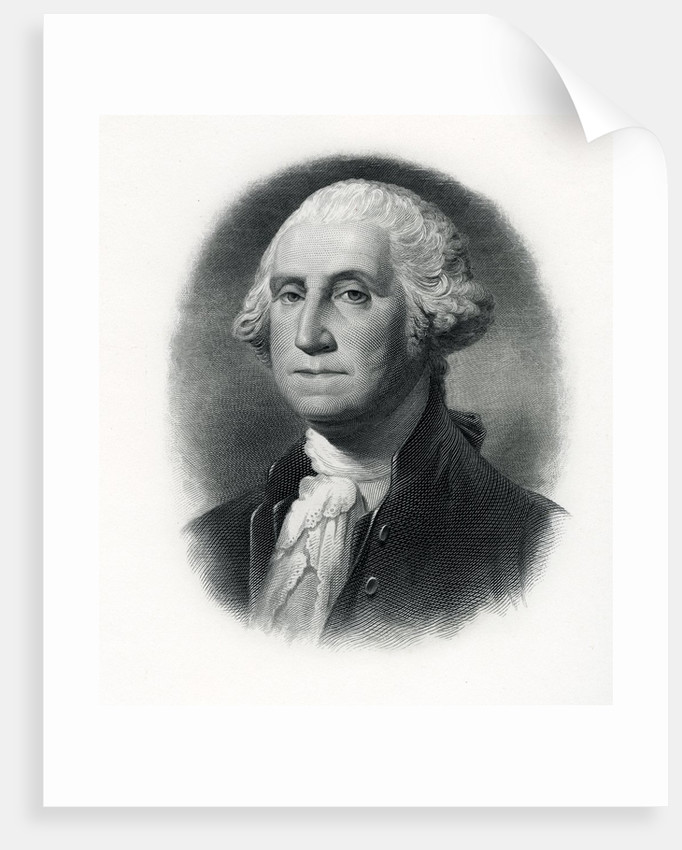 Official portrait of President George Washington by Corbis
